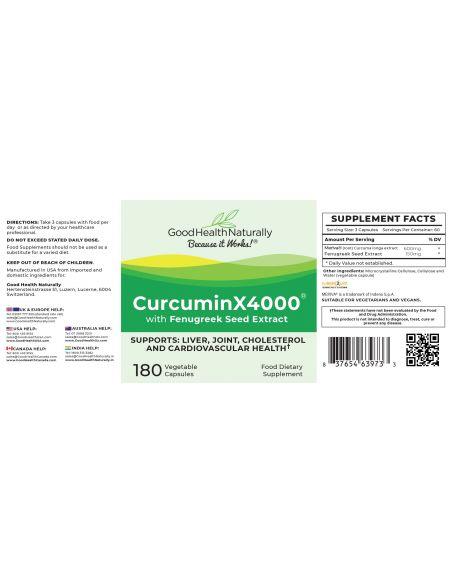 CurcuminX4000™ Capsules Home