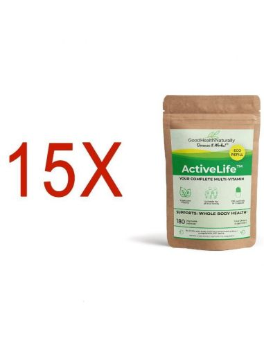 Active Life™ Compostable Refill Pouch - Buy 12 Get 3 FREE Home